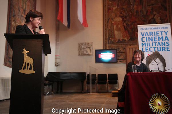 20100926 - Utrecht - Foto: Ramon Mangold - .Variety Cinema Militans Lecture met Christine Vachon, Hier aangekondigd door festivaldirectrice Willemien van Aalst. Nederlands Filmfestival 2010