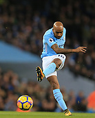 3rd December 2017, Etihad Stadium, Manchester, England; EPL Premier League football, Manchester City versus West Ham United; Fabian Delph of Manchester City shoots and just misses