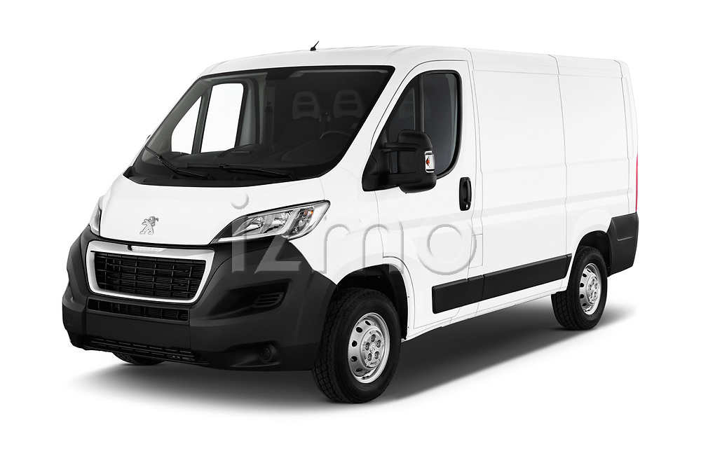 2018 Peugeot Boxer Pro 5 Door Cargo Van angular front stock photos of front three quarter view