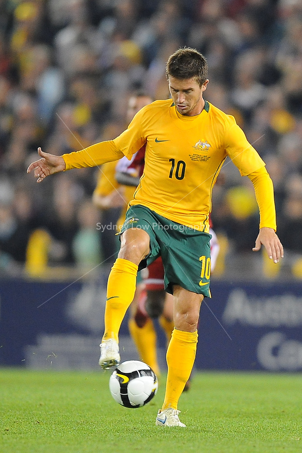 MELBOURNE, AUSTRALIA - OCTOBER 14: Harry Kewell from Australia trapping the ball in a AFC Asian Cup 2011 match between Australia and Oman at Etihad Stadium on October 14, 2009 in Melbourne, Australia. Photo Sydney Low www.syd-low.com