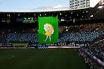 March 3, 2013; Portland, OR, USA; The Timbers Army Tifo is unveiled before the soccer match between the New York Red Bulls and the Portland Timbers at Jeld-Wen Field.  Mandatory Credit: Jaime Valdez-USA TODAY Sports