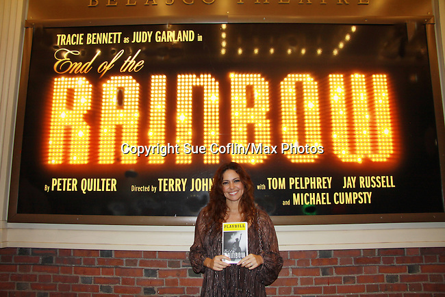 Guiding Light's Jessica Leccia (One Life To Live) sees Broadway's End of the Rainbow on March 21, 2012 at the Belasco Theatre, New York City, New York (Photo by Sue Coflin/Max Photos)
