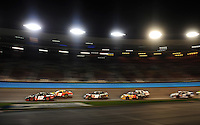 Apr 17, 2009; Avondale, AZ, USA; NASCAR Nationwide Series driver Justin Allgaier (12) leads a pack of cars during the Bashas Supermarkets 200 at Phoenix International Raceway. Mandatory Credit: Mark J. Rebilas-