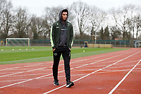 12th January 2020, Platz 11, Bremen, Germany; Werder Bremen versus Hannover 96; Sebastian Soto arrives on the pitch ; Soto, an American born player, has reportedly moved from Hannover to Norwich City of the English Premier league