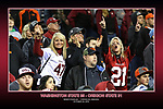 Fan shots from the Cougars Pac-12 Conference road victory over the Oregon State Beavers, 35-31, on October 29, 2016, at Reser Stadium in Corvallis, Oregon.