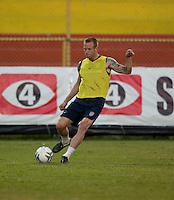 Jay DeMerit. Stadium Training prior to FIFA World Cup qualifiers USA vs El Salvador at Estadio Cuscatlán Stadium  on March 27, 2009.