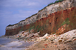 AE2KPF Cliffs of striped sedimentary rock at Hunstanton Norfolk England
