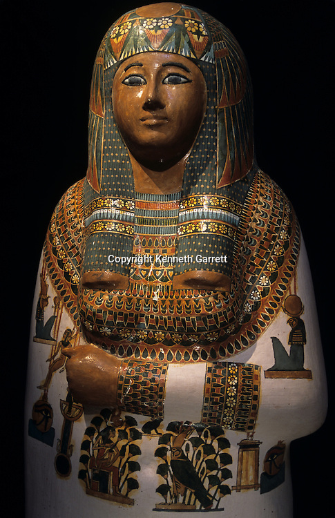 An anthropoid, mummiform coffin,Third Intermediate Period