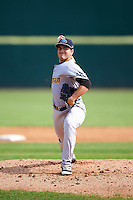 Trenton Thunder starting pitcher Ronald Herrera (25) during the first game of a doubleheader against the Hartford Yard Goats on June 1, 2016 at Sen. Thomas J. Dodd Memorial Stadium in Norwich, Connecticut.  Trenton defeated Hartford 4-2.  (Mike Janes/Four Seam Images)