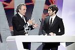 Spanish actors Jose Coronado (l) and Quim Gutierrez during the awards gala '40 Principales 2012'..(Alterphotos/Acero)