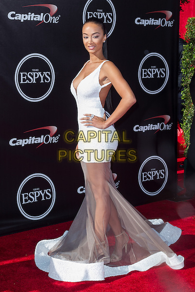 LOS ANGELES, CA - JULY 16: Draya Michele at the 2014 ESPYs at Nokia Theatre L.A. Live in Los Angeles, California on July 16th, 2014.   <br /> CAP/MPI/mpi99<br /> &copy;mpi99/MediaPunch/Capital Pictures