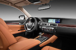 Passenger side dashboard view of a 2013 Lexus GS 350.