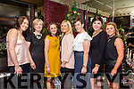 Siobhan Costello, Helen Buckley, Siobhan Flynn, Carmel Donnellan, Caitriona Buckley, Annette Gibney, Aisling McMahon from McCarthy Insurance Group, Tralee,  enjoying the Benners Hotel Christmas party night on Saturday