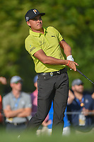 Rickie Fowler (USA) watches his tee shot on 12 during 1st round of the 100th PGA Championship at Bellerive Country Club, St. Louis, Missouri. 8/9/2018.<br /> Picture: Golffile | Ken Murray<br /> <br /> All photo usage must carry mandatory copyright credit (© Golffile | Ken Murray)