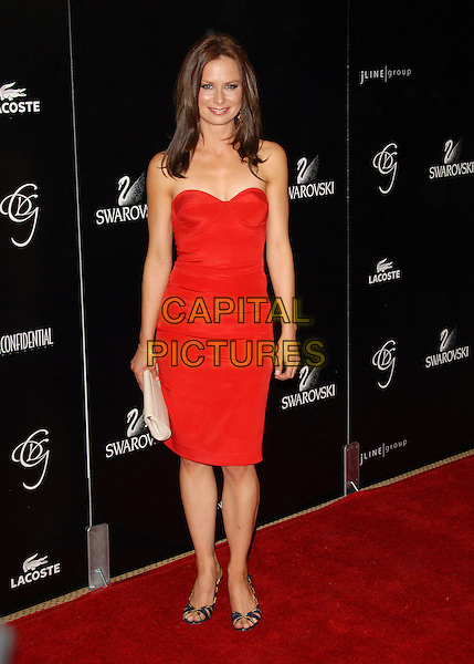 MARY LYNN RAJSKUB.Attends The 9th Annual Costume Designers Guild Awards Gala held at The Beverly Wilshire Hotel in Beverly Hills, California, USA, February 17 2007..full length strapless red dress.CAP/DVS.©Debbie VanStory/Capital Pictures