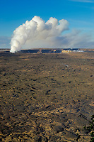 3-20-08, Halemaumau crater erupts for the first time since 1972, just below the public viewing area, Kilauea volcano summit,, Hawaii Volcanoes National Park, Big Island, Hawaii, USA, Pacific Ocean