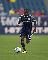 New England Revolution midfielder Sainey Nyassi (17). The New England Revolution defeated Puebla FC in penalty kicks, in SuperLiga 2010 semifinal at Gillette Stadium on August 4, 2010.