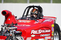 Nov. 9, 2012; Pomona, CA, USA: NHRA competition eliminator driver David Rampy during qualifying for the Auto Club Finals at at Auto Club Raceway at Pomona. Mandatory Credit: Mark J. Rebilas-