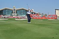 Paul Lawrie (SCO) on the 9th during the final round of the Abu Dhabi HSBC Golf Championship, Abu Dhabi GC,Abu Dhabi,United Arab Emirates.Picture Fran Caffrey www.golffile.ie
