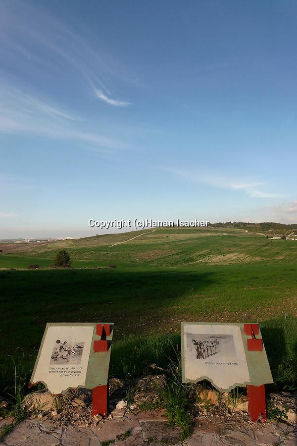 Israel, Shephelah. A view from Mitzpe Harel toward Neve Shalom
