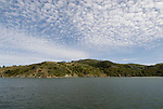 Angel Island State Park, in San Francisco Bay, CA, California.  People disembark and picnic at Ayala Cove, then hike, bike, or tram perimeter road, with stops at Civil War era Camp Reynolds, and its restored officer house, or Spanish American War era Fort McDowell..Photo camari252-70492..Photo copyright Lee Foster, www.fostertravel.com, 510-549-2202, lee@fostertravel.com.
