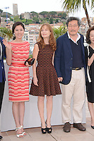 "Moon Sori, Isabelle Huppert and Honh Sangsoo attending the ""Da-reun Na-ra-e-suh (In Another Country)"" Photocall during the 65th annual International Cannes Film Festival in Cannes, France, 21th May 2012...Credit: Timm/face to face / Mediapunchinc"