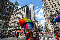 NEW YORK, EUA, 25.06.2017 - PARADA-NEW YORK - Participantes durante a Parada do Orgulho LGBT na cidade de New York nos Estados Unidos neste domingo, 25. (Foto: William Volcov/Brazil Photo Press)