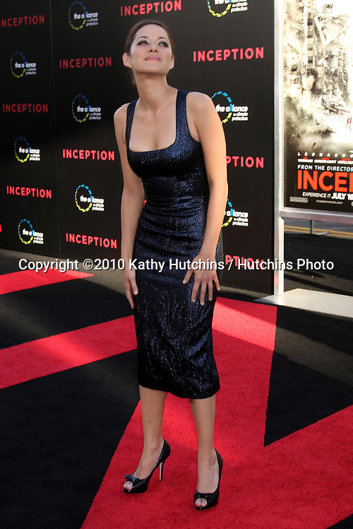 LOS ANGELES - JUL 13:  Marion Cotillard arrive at the Inception Premiere at Grauman's Chinese Theater on July13, 2010 in Los Angeles, CA ....