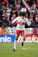 Mehdi Ballouchy (10) of the New York Red Bulls. The New York Red Bulls defeated the Seattle Sounders 1-0 during a Major League Soccer (MLS) match at Red Bull Arena in Harrison, NJ, on March 19, 2011.