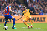 Beram Kayal of Brighton & Hove Albion plays a through ball during Crystal Palace vs Brighton & Hove Albion, Premier League Football at Selhurst Park on 14th April 2018