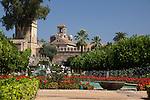 Garten und Torre de los Leones, Alcazar de los Reyes Cristianos (Alcazar Viejo), Cordoba (Stadt), Andalusien, Spanien
