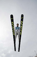 Men's Ski Jumping K120 Team competition Monday morning at the Utah Olympic Park, 2002 Olympic Winter Games.; 02.18.2002, 9:52:51 AM<br />