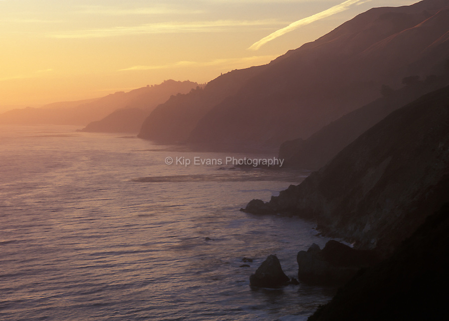 Sunset along the Big Sur Coast
