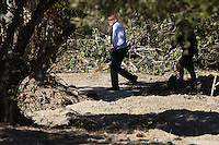 Pictured: Detective Inspector Jon Cousins of South Yorkshire Police who leads the search in a field in Kos, Greece. Thursday 29 September 2016<br /> Re: Police teams searching for missing toddler Ben Needham on the Greek island of Kos have said they are &quot;optimistic&quot; about new excavation work.<br /> Ben, from Sheffield, was 21 months old when he disappeared on 24 July 1991 during a family holiday.<br /> Digging has begun at a new site after a fresh line of inquiry suggested he could have been crushed by a digger.<br /> South Yorkshire Police (SYP) said it continued to keep an &quot;open mind&quot; about what happened to Ben.