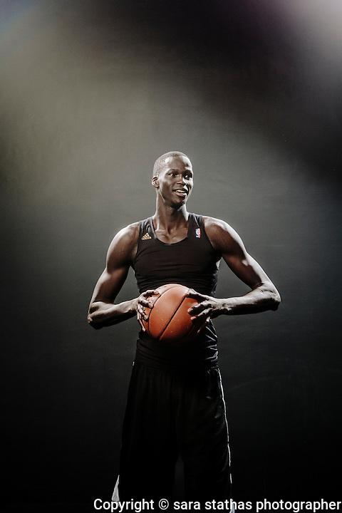 Thon Maker, a rookie player on the Milwaukee Bucks basketball team, age 19.