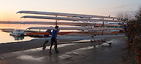 Varese. Lombardia. ITALY. General View.  Sun Set, Crews returning from afternoon Training on Lake/Lago Varies. [Varese Rowing Club]. [Canottieri Varese]<br /> <br /> Tuesday  03/01/2017 <br /> <br /> [Mandatory Credit; Peter Spurrier/Intersport-images]<br /> <br /> <br /> LEICA CAMERA AG - LEICA Q (Typ 116) - 1/500 - f4