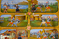 Folk art paintings depicting Sicilian historical stories, Palermo Pupet museum, Sicily