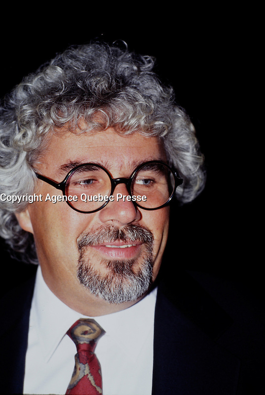 Montreal (Qc) CANADA - file photo between 1991 and 1995 : Mario Bertrand, Director CFTM canal 10