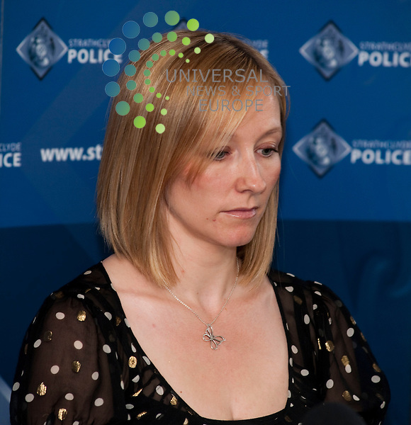 (pictured)  Lorraine Flemming. Police in East Kilbride today held a press conference to gain information about the whereabouts of missing, Colin Ferguson. Mr Ferguson has not been seen since the 11th of May. His nieces Lorraine Flemming and Michelle Ferguson as well as Chief Inspector Neil Kerr gave information about the man, and asked the public for any information that could lead to him being found...Clyde Auditorium, Finneston Quay, Glasgow, Scotland. Picture: Euan Anderson/Universal News And Sport (Scotland) 20th May 2010.