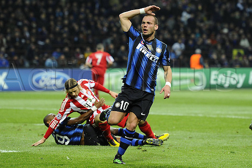 23 02 2011  Champions League Inter versus Bayern    Photo Wesley Sneijder