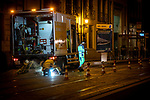 BRUSSELS - BELGIUM - 02 July 2019 -- Welders fixing tram-rails during the night. -- PHOTO: Juha ROININEN / EUP-IMAGES