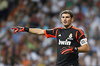 29.08.2012 Spain Supercopa, Real Madrid won (2-1) at Barcelona and was presented on goalaverage to win its ninth Supercopa of Spain) at Santiago Bernabeu stadium. The picture show Iker Casillas (spanish goalkeeper of Real Madrid)