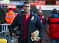 West Ham United goalkeeper Adrian arrives before the Barclays Premier League match between Swansea City and West Ham United played at The Liberty Stadium, Swansea on 20th December 2015