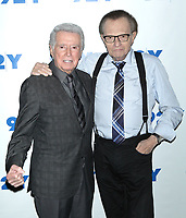 ***FILE PHOTO*** Regis Philbin Passes Away Aged 88.<br /> <br /> NEW YORK, NY - JUNE 13: Larry King in conversation with Regis Philbin at 92Y on June 13, 2016 in New York City. <br /> CAP/MPI99<br /> ©MPI99/Capital Pictures