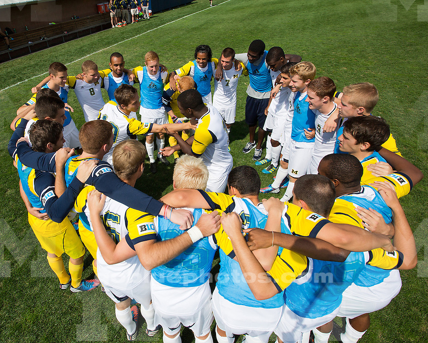 The University of Michigan men's soccer team lost to Notre Dame, 1-0, in double overtime at the U-M Soccer Stadium on September 16, 2012.