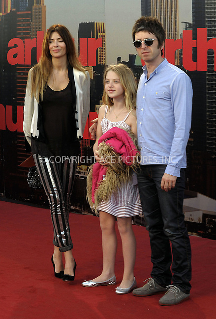 WWW.ACEPIXS.COM . . . . .  ..... . . . . US SALES ONLY . . . . .....April 20 2011, London....(R-L) Noel Gallagher, Anais Gallagher and Sarah McDonald  arriving at the European Premiere of Arthur at Cineworld 02 on April 19, 2011 in London....Please byline: FAMOUS-ACE PICTURES... . . . .  ....Ace Pictures, Inc:  ..Tel: (212) 243-8787..e-mail: info@acepixs.com..web: http://www.acepixs.com
