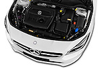 Car Stock 2016 Mercedes Benz CLA - 4 Door Sedan Engine  high angle detail view