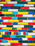 Colorful bricks, village of Burano, Italy.