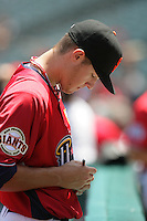 Zack Wheeler of the San Francisco Giants organization participates in the Futures Game at Angel Stadium in Anaheim,California on July 11, 2010. Photo by Larry Goren/Four Seam Images