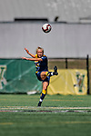 1 September 2019: Merrimack College Warrior Defender Meghan Blanchette, a Sophomore from Weare, NH, in action against the University of Vermont Catamounts in Game 3 of the TD Bank Women's Soccer Classic at Virtue Field in Burlington, Vermont. The Lady Warriors rallied in the second half to defeat the Catamounts 2-1. Mandatory Credit: Ed Wolfstein Photo *** RAW (NEF) Image File Available ***